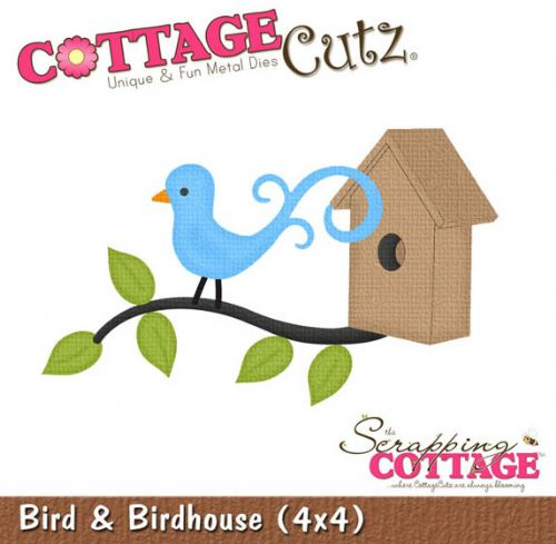 Bird and Birdhouse Shape Cottage Cutz Dies
